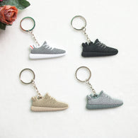 Mix 12pcs/lot Cute Silicone Yeezy 350 Boost Key Chain, Sneaker Keychain Kids Key Rings Key Holder for Woman and Girl Gifts