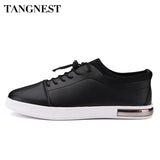 Tangnest Man's Plain Solid Lace Up Flats Men Fashion PU Leather Shoes Men Pointed Toe Comfortable Low Shoes For Summer XMB529
