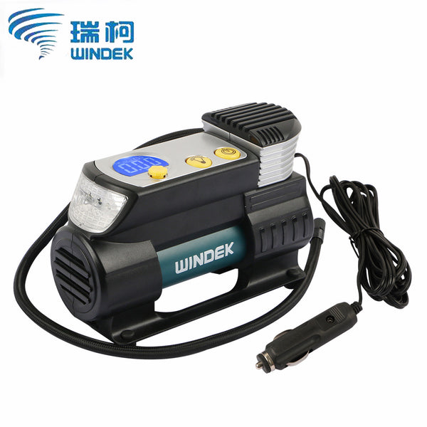 WINDEK Digital Car Compressor Tire Pump 12V Auto Tyre Inflator Electric Super Fast Air Compressor for Cars SUV Tires
