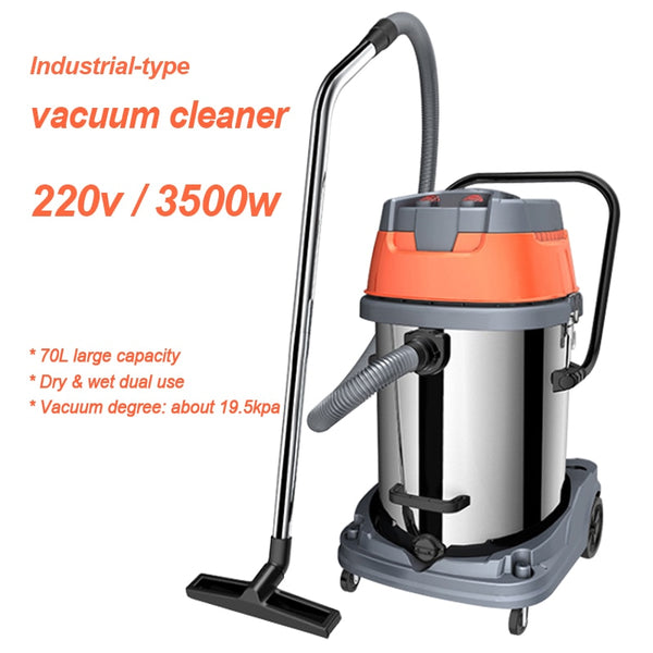 Industrial-type vacuum cleaner wet & dry dual-use  dust collector multi-filte dust cleaning machine 70L capacity 220v 3500w 1pc
