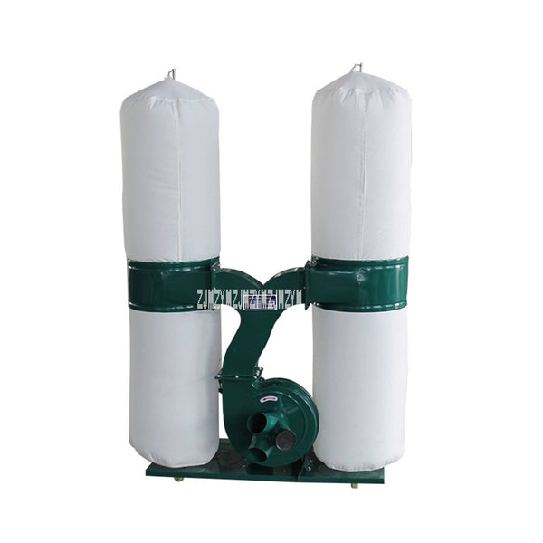 HS-A01 Woodwork Double Bag Dust Collector Industry Equipment Wood Dust Separator Extractor Movable Type Wood Vacuum Cleaner