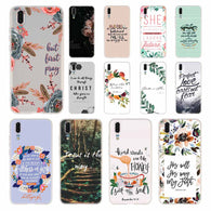 Bible verse Philippians Phone Case For Huawei P8 P9 Lite 2017 P10 P20 P30 Lite Plus Pro P Smart 2019 Cover Soft Cover