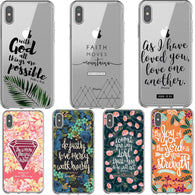 Bible verse Philippians Jesus Christ Christian Pattern Phone Case For iPhone 11 Prp MAX XS XR XS MAX 5 6 6s 7 8 Plus X TPU Cover