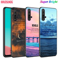 Black Cover Bible verse for Huawei Nova 5 3i P Smart Z Plus 2019 P30 P20 Pro P10 P9 P8 Lite Plus Phone Case