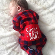Newborn Romper Baby Girl Clothes Kid Infant Cotton Jumpsuit Christmas Plaid Romper Xmas Baby Clothes New Born Baby Clothes