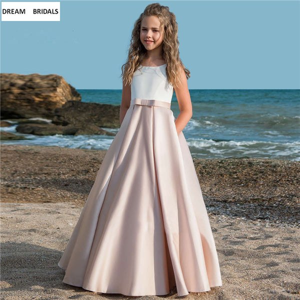 Hot Fancy Flower Girl Dresses For Weddings A-Line Vestidos daminha Kids Evening Pageant Gowns Long First Communion Dresses