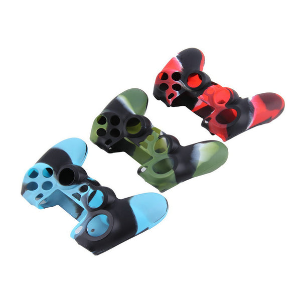 Hot selling Camouflage Soft Silicone Cover Case Protection Skin for SONY playstation 4 PS4 Dualshock 4 Controller Newest