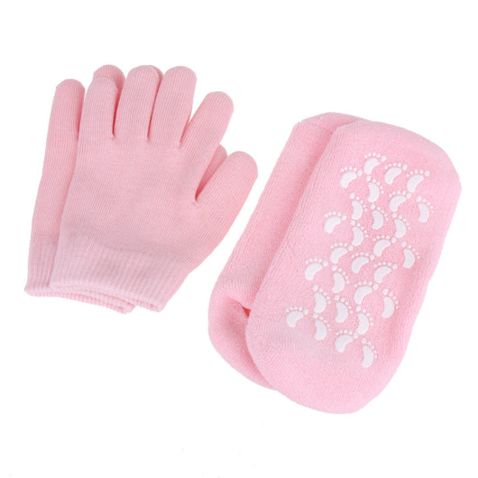 Reusable SPA Gel Socks Gloves Moisturizing Whitening Exfoliating Foot Mask Ageless Smooth Hand Mask Foot Care Silicone Gel Socks