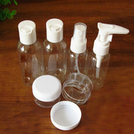 6pcs/set Mini Plastic Transparent Small Empty Spray Bottle Lotion Case Container Traveling Make Up Skin Care Refillable Bottle