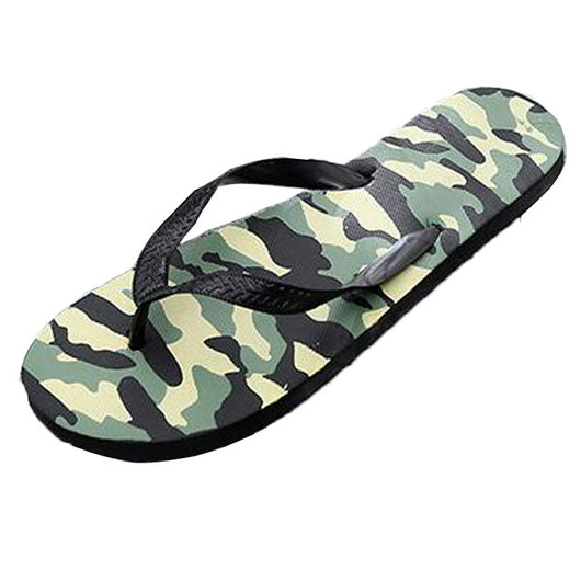 Tangnest Men Summer Slippers 2017 Men Fashion Camouflage Flip Flops Men Casual Beach Shoes PVC Flat Slides Man Size 42~45 XMT240