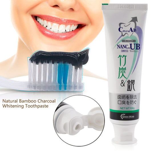 Natural Bamboo Charcoal Toothpaste Anti-halitosis Healthy Teeth Whitening Remove Smoke Stains Oral Hygiene Care Balck Toothpaste