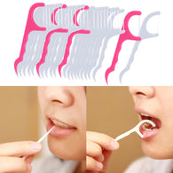 25pcs/1 pack New 2 in 1 Dental Floss Pick Tooth Care Thread Peeling Stick Oral Gum Hygiene ToothPicks Teeth Cleaner Clean Tools