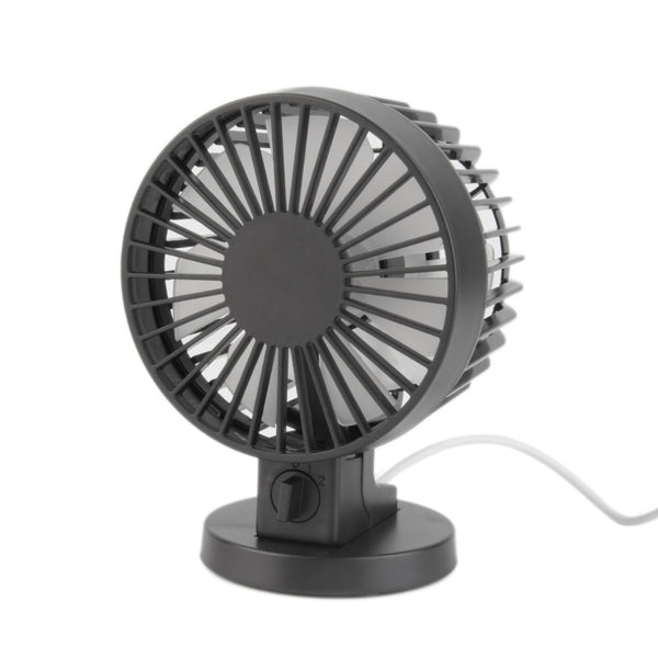 Hot ! Mini Portable Dual Blade Desk Super Mute Laptop PC USB Cooler Small Fan black