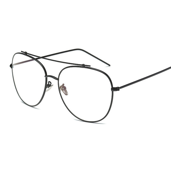 Unisex Fashion Brand Designer Aviation Metal Glasses Frame Unique Top Clear Lens Frames Feamle Eyewear Optical Glasses