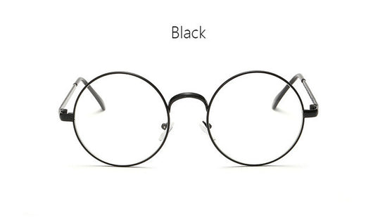 ff23a3c1bd6 Vintage Round Frame Eyes Eyeglasses Women Circle Fashion Retro Metal Myopia  Eyewear Men Optical Glasses