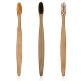 3 Colors Environment-friendly Wood Toothbrush Bamboo Teethbrush Soft Bamboo Fibre Wooden Handle Low-carbon For Adults