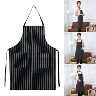 Cooking Baking Aprons Linen Catering Home House Kitchen Apron Aprons with 2 Pockets for Chefs
