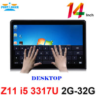 Partaker Elite Z11 Desktop All In One PC With 14 Inch Desktop 10 Points Capacitive Touch Screen Intel Core I5 3317u