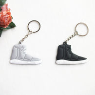 Mix 12pcs/lot Silicone Yeezy 750 Boost Key Chain Sneaker Keychain Kids Key Rings Key Holder Llaveros Chaveiro Porte Clef