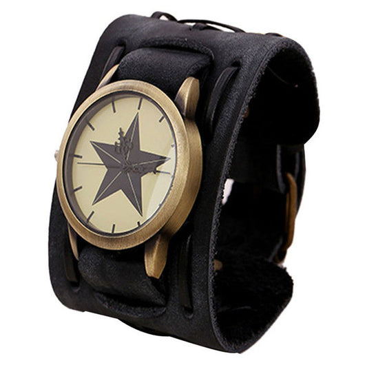 2017 New fashion watch Retro Punk Style men watches mens watches PU Leather Wristwatches For Men orologio uomo