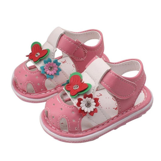 Kids girls sandals 2017 girls shoes flower Toddler Kids Baby girls Summer Shoes Sandals Cartoon Shoes Summer