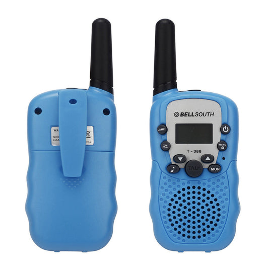 2pcs Wireless Walkie-talkie Eight Channel 2 Way Radio Intercom 5KM Blue Play Educational toys for children Walkie-talkie