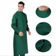 Professional Men and women cotton green surgical gown Health care workers clothing long-sleeved Doctors Uniforms trans dressing