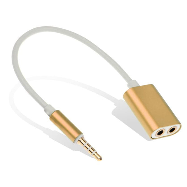 2016 Hot Sale Audio Splitter Cable Jack Male to 2 Female M/F 3.5mm Stereo Earphone Headphone