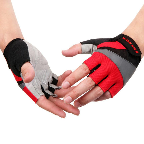 1Pair Bicycle Gloves Sport Gel Half Finger Gloves M- XL Size Motorcycle Gloves