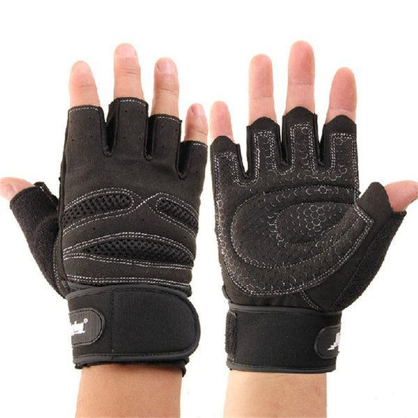 igh Quality Weight Lifting Gloves Training Wrist Wrap Gloves Half Finger Design Comfortable Gloves#W21
