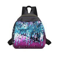 Xiniu fashion women backpack leather school bags  teenage girls Shiny Sequins Shoulder Bags #6M