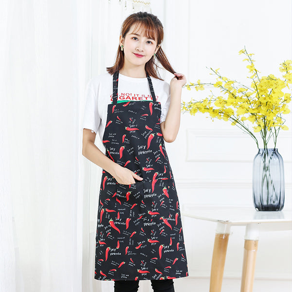 Chili Style Neck strap Adjustable Unisex Solid Cooking Kitchen Restaurant Bib Apron with Pocket  for Cooking, Baking, Barbequing