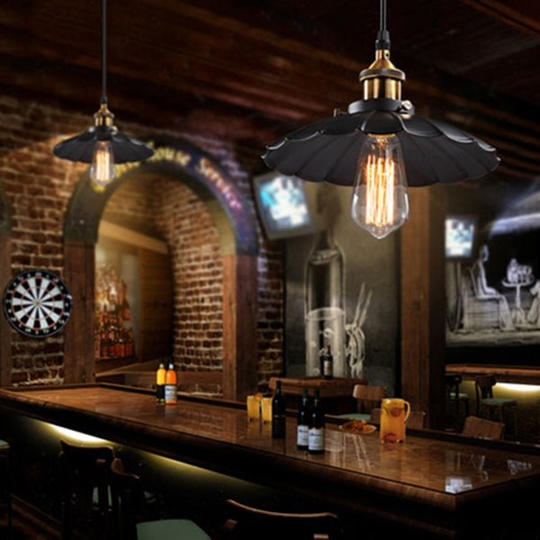 American Retro Industrial Wind Style Pendant Lights Creative Rustic Style Hanging Lamps Bar Cafe Restaurant Iron e27
