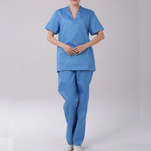 Men Medical Clothes Set Women Medical Hospital Nursing Clinic Scrub Tops Trousers Set Uniform Unisex Tops & Pants DAJ9067