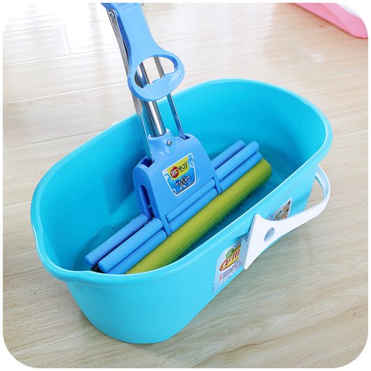 Thick rectangular mop bucket portable car wash bucket, household plastic cotton flat mop cleaning bucket