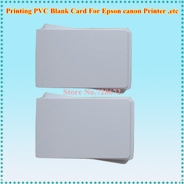 Inkjet Blank PVC Card White ID Card for Epson /Canon inkjet P50 T50 T60 P50 L800 R200 R230 R260 IP4810 IP4700 IP4930 Printer