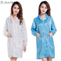 Women Medical Clothing ESD-Safe Shield Anti-static Dustproof LAB Smock Clothes Unisex Coats Work Wear Working Uniforms DAJ9116