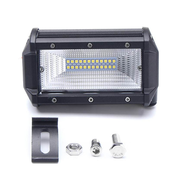 72W LED Light Bar Flood Lamp 5 inch Car Boat Truck Offroad Vehicle For Jeep Driving Light Waterproof IP67 DC10-30V