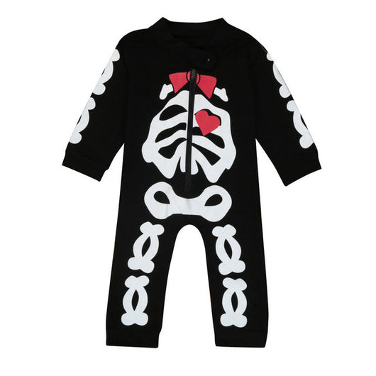 3f05cf2266c Newborn Kids Baby Boy Girl Clothes Skeleton Romper Jumpsuit Outfits In