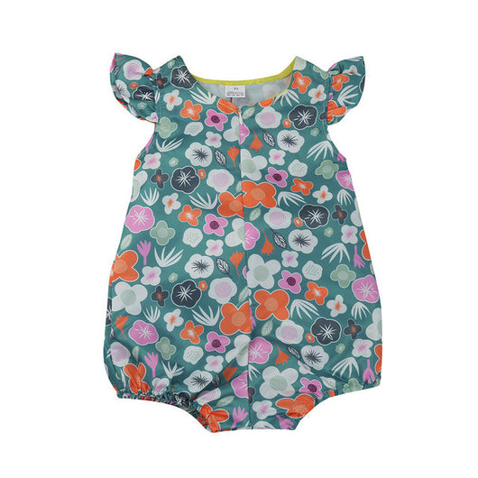 1c9e21649ca6 Lovely Newborn Baby Girls Floral Rompers Clothes Ruffles Sleeve Infant