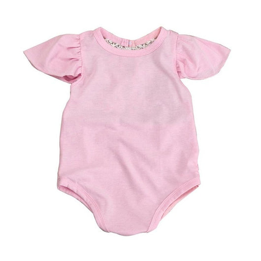 0a22f53a7aa Baby Girl Clothes Romper Ruffles Sleeves Pink Red Color Newborn Baby R