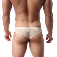 Men Underwear T-back Sexy Translucent Triangle Briefs Breathable Underpants BGL
