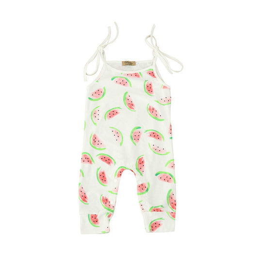 9f700154493 Baby Watermelon Harness Rompers Newborn Infant Baby Girl Boy Melon Pri