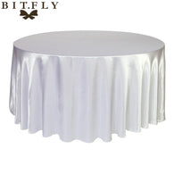 10pcs round Satin Tablecloth Table Cloth Cover Wedding birthday party Christmas Banquet hotel Restaurant Decoration black white