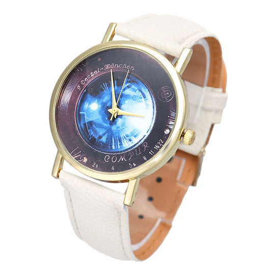 Women Men Fresh Dial Pattern Students Watch
