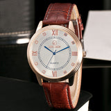 Fashion Men Leather Band Watches Sport Analog Quartz Wrist Watch