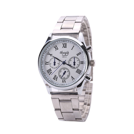 Men Generalsiness Quartz Watch Stainless Steel Strap