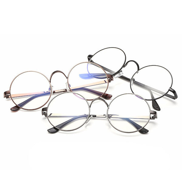 Vintage Round Frame Eyes Eyeglasses Women Circle Fashion Retro Metal Myopia Eyewear Men Optical Glasses