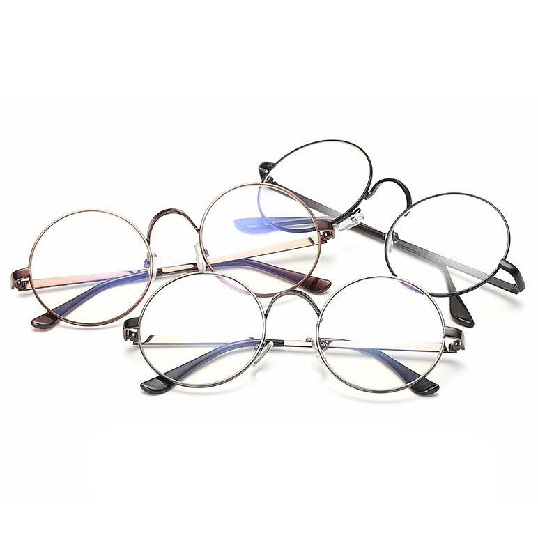 bd7f3eab720 Vintage Round Frame Eyes Eyeglasses Women Circle Fashion Retro Metal M