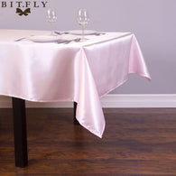 145cmx304cm Satin Table Cloth rectangular Tablecloth fabric For Home Wedding tables restaurant Party Christmas Decoration white
